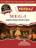 MEG1, British Poetry (English Medium), IGNOU Master of Arts (English)(MEG) Neeraj Publications | Guide for MEG-1 for December 2021 Exams with Sample Papers