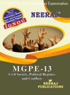 MGPE13, Civil Society, Political Regimes and Conflict (English Medium), IGNOU Master of Arts (Political Science) (MPS) Neeraj Publications | Guide for MGPE-13 for December 2021 Exams with Sample Papers