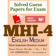 MHI4 IGNOU Solved Sample Papers/Most Important Questions Answers for Exam-English Medium