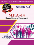 MPA14, Human Resource Management (English Medium), IGNOU Master of Arts (Public Administration) (MPA) Neeraj Publications | Guide for MPA-14 for December 2021 Exams with Sample Papers