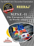 MPSE11, The European Union in World Affairs (English Medium), IGNOU Master of Arts (Political Science) (MPS) Neeraj Publications | Guide for MPSE-11 for December 2021 Exams with Sample Papers