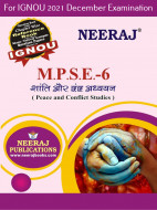 MPSE6, Peace and Conflict Studies (Hindi Medium), IGNOU Master of Arts (Political Science) (MPS) Neeraj Publications | Guide for MPSE-6 for December 2021 Exams with Sample Papers