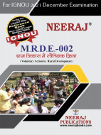 MRDE2, Voluntary Action in Rural Development (Hindi Medium), IGNOU Master of Arts (Rural Development) (MARD) Neeraj Publications | Guide for MRDE-2 for December 2021 Exams with Sample Papers