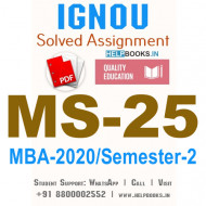 MS25-IGNOU MBA Solved Assignment 2020/Semester-II (Managing Change in Organisations)