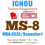 MS8-IGNOU MBA Solved Assignment 2020/Semester-I (Quantitative Analysis for Managerial Applications)