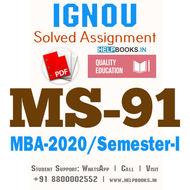 MS91-IGNOU MBA Solved Assignment 2020/Semester-I (Advanced Strategic Management)