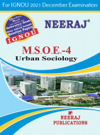 MSOE4, Urban Sociology (English Medium), IGNOU Master of Arts (Sociology)(MSO) Neeraj Publications | Guide for MSOE-4 for December 2021 Exams with Sample Papers