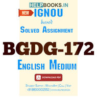 BGDG172 Solved Assignment (English Medium)-Gender Sensitization: Society and Culture