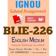 Download BLIE226 IGNOU Solved Assignment 2020-2021 (English Medium)