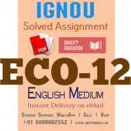 Download ECO12 IGNOU Solved Assignment 2020-2021 (English Medium)