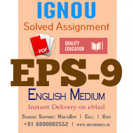 Download EPS9 IGNOU Solved Assignment 2020-2021 (English Medium)