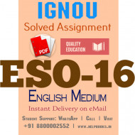 Download ESO16 IGNOU Solved Assignment 2020-2021 (English Medium)