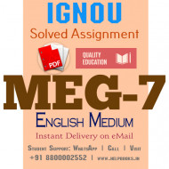 Download MEG7 IGNOU Solved Assignment 2020-2021