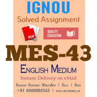 Download MES-043 IGNOU B.ed IGNOU Solved Assignment 2020-2021 (English Medium)