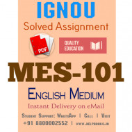 Download MES-101 IGNOU B.ed IGNOU Solved Assignment 2020-2021 (English Medium)