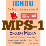 Download MPS1 IGNOU Solved Assignment 2020-2021 (English Medium)
