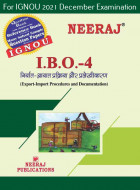 IBO4, Export Import Procedures and Documentation (Hindi Medium), IGNOU Master of Commerce (MCOM) Neeraj Publications | Guide for IBO-4 for December 2021 Exams with Sample Papers