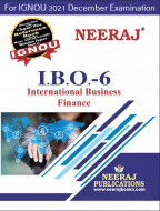 IBO6, International Business Finance (English Medium), IGNOU Master of Commerce (MCOM) Neeraj Publications | Guide for IBO-6 for December 2021 Exams with Sample Papers