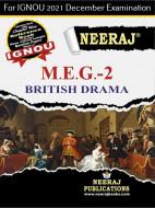 MEG2, British Drama (English Medium), IGNOU Master of Arts (English)(MEG) Neeraj Publications | Guide for MEG-2 for December 2021 Exams with Sample Papers
