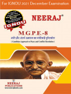 MGPE8, Gandhian Approach to Peace and Conflict Resolution (Hindi Medium), IGNOU Master of Arts (Political Science) (MPS) Neeraj Publications | Guide for MGPE-8 for December 2021 Exams with Sample Papers