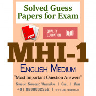 MHI1 IGNOU Solved Sample Papers/Most Important Questions Answers for Exam-English Medium
