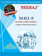 MHI9, Indian National Movement (Hindi Medium), IGNOU Master of Arts (History)(MAH) Neeraj Publications | Guide for MHI-9 for December 2021 Exams with Sample Papers