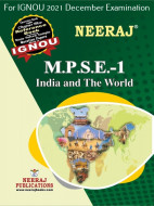 MPSE1, India and the World (English Medium), IGNOU Master of Arts (Political Science) (MPS) Neeraj Publications | Guide for MPSE-1 for December 2021 Exams with Sample Papers