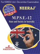 MPSE12, State and Society in Australia (English Medium), IGNOU Master of Arts (Political Science) (MPS) Neeraj Publications | Guide for MPSE-12 for December 2021 Exams with Sample Papers