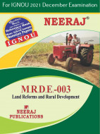 MRDE3, Land Reforms and Rural Development (English Medium), IGNOU Master of Arts (Rural Development) (MARD) Neeraj Publications | Guide for MRDE-3 for December 2021 Exams with Sample Papers