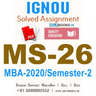 MS26-IGNOU MBA Solved Assignment 2020/Semester-II (Organisational Dynamics)