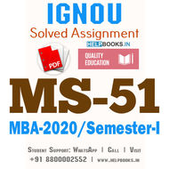 MS51-IGNOU MBA Solved Assignment 2020/Semester-I (Operations Research)