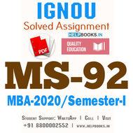 MS92-IGNOU MBA Solved Assignment 2020/Semester-I (Management of Public Enterprises)