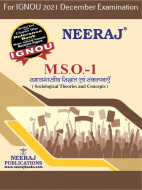 MSO1, Sociological Theories and Concepts (Hindi Medium), IGNOU Master of Arts (Sociology)(MSO) Neeraj Publications | Guide for MSO-1 for December 2021 Exams with Sample Papers