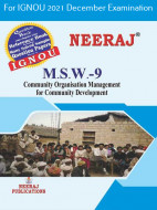 MSW9, Community Organisation Management for Community Development (English Medium), IGNOU Master of Social Work (MSW) Neeraj Publications | Guide for MSW-9 for December 2021 Exams with Sample Papers