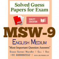 MSW9 IGNOU Solved Sample Papers/Most Important Questions Answers for Exam-English Medium