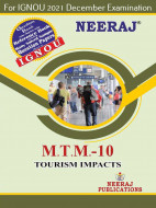 MTTM10, Tourism Impacts (English Medium), IGNOU Master of Tourism and Travel Management (MTTM) Neeraj Publications | Guide for MTTM-10 for December 2021 Exams with Sample Papers