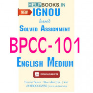 BPCC101 Solved Assignment (English Medium)-Introduction to Psychology BPCC-101