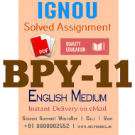 Download BPY11 IGNOU Solved Assignment 2020-2021 (English Medium)