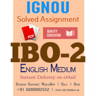 Download IBO2 IGNOU Solved Assignment 2020-2021 (English Medium)