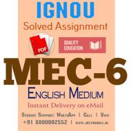 Download MEC6 IGNOU Solved Assignment 2020-2021 (English Medium)