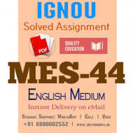 Download MES-044 IGNOU B.ed IGNOU Solved Assignment 2020-2021 (English Medium)