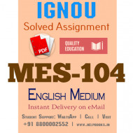 Download MES-104 IGNOU B.ed IGNOU Solved Assignment 2020-2021 (English Medium)