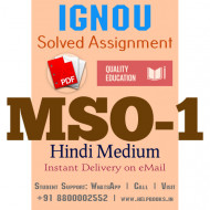 Download MSO1 IGNOU Solved Assignment 2020-2021 (Hindi Medium)