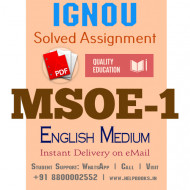 Download MSOE1 IGNOU Solved Assignment 2020-2021 (English Medium)