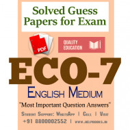 ECO7 IGNOU Solved Sample Papers/Most Important Questions Answers for Exam-English Medium