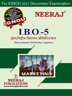 IBO5, International Marketing Logistics (Hindi Medium), IGNOU Master of Commerce (MCOM) Neeraj Publications | Guide for IBO-5 for December 2021 Exams with Sample Papers