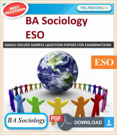 IGNOU BA Sociology Solved Assignments-ESO | e-Assignment Copy | 2019-2020