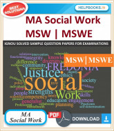 IGNOU MA Social Work Solved Assignments-MSW & MSWE | e-Assignment Copy | 2019-2020