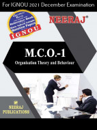 MCO1, Organization Theory and Behaviour (English Medium), IGNOU Master of Commerce (MCOM) Neeraj Publications | Guide for MCO-1 for December 2021 Exams with Sample Papers