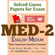 MED2 IGNOU Solved Sample Papers/Most Important Questions Answers for Exam-English Medium